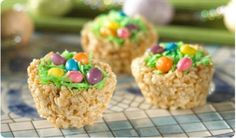 Rice Krispie nest cups