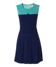 Take a look at this Louche Blue & Light Blue Pam Dress on zulily today!