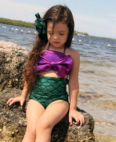 Little Mermaid Swimsuit by kkswimwear on Etsy, $50.00