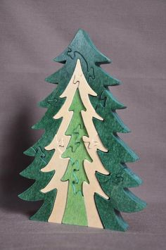 Pine 3D Wooden Christmas Tree Wood Puzzle Toy Amish Made in the USA in Sporting Goods, Outdoor Sports, Equestrian | eBay