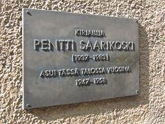 Hän asui täällä: Pentti Saarikoski