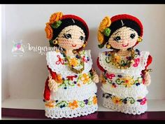 Crochet Hats, Mini, Dolls, Children, Youtube, Crochet Dolls, Amigurumi Patterns, Tejidos, Pillows
