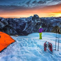Camping at Glacier Point #Yosemite  #California  Photo: @christinhealey #wildernessculture by wilderness_culture