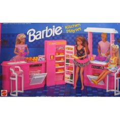 Barbie Kitchen Playset What To Use Clean Wood Cabinets 52 Best Kitchens Images Miniatures Baby Dolls 1992 Arcotoys Mattel Had This Is The One