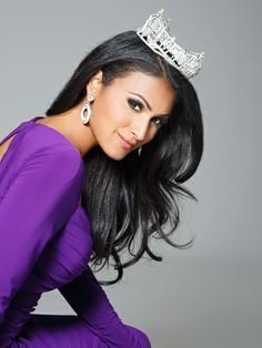 Miss America Nina Davuluri On Battling Stereotypes  #Refinery29: My girl, Nina, is looking great in my favorite color. She's in my favorite top 3 Miss America's. Go, Nina!!