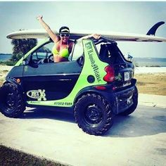 Smart off road Smart Car Body Kits, Fiat 500l, Drift Trike, Mobiles, Lifted Cars, Smart Fortwo, Pedal Cars, Small Cars, Car Humor