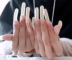 Long Natural Nails, Long Nails, French Manicure Acrylic Nails, Cute Nails