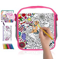 Decorate Your Own Messenger Bag For Girls! Color Your Own Bag for Kids with Vibrant Markers Plus a Bonus Pencil Case! Fun DIY Coloring Arts and Crafts Set, Great for School and Travel, Unique Girl Gifts -- (paid link) Check out the image by visiting the link. Messenger Bags For School, Travel Messenger Bag, Girls Messenger Bag, Crayola Toys, Purple Ladybugs, Unique Gifts For Girls, Arts And Crafts Kits, Art Bag, Christmas Stocking Stuffers
