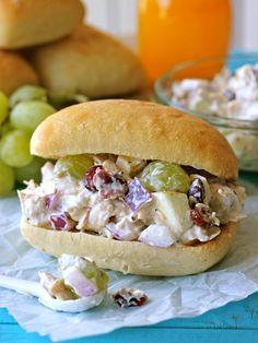 Lightened-Up Greek Yogurt Chicken Salad Sandwich