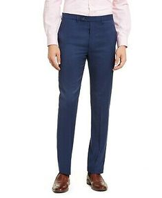 Express Producer Modern Fit Men's 33X32 Black Flat Front Dress Pants NWT