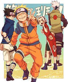 NARUTO, Haruno Sakura, Hatake Kakashi, Uchiha Sasuke, Uzumaki Naruto