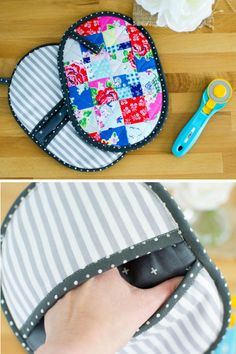 Sewing For Beginners Easy Patchwork Potholder Pockets Easy Sewing Projects, Sewing Projects For Beginners, Sewing Hacks, Sewing Tutorials, Sewing Tips, Quilting Projects, Quilting Ideas, Leftover Fabric, Creation Couture