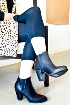 Leather + leopard #outfit #style #styleblog
