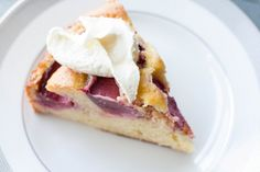 Almond Plum Cake (made with almond paste)