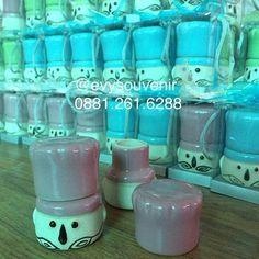 Souvenir tempat lada garam Koki dengan sablon dan kemasan box mika Warna tatakan…