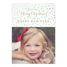 Deals Classy Gold Dots Merry Christmas Photo Card online after you search a lot for where to buy Personalized Greeting Cards, Personalised Christmas Cards, Merry Christmas Card Photo, Xmas, Merry Happy, Happy Photos, Christmas Invitations, Gold Dots, Your Turn