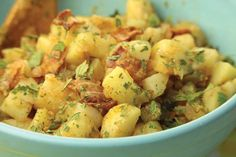 German Potato Salad Recipe    Garnish this German Potato Salad Recipe with parsley, and it is great served warm or cold.