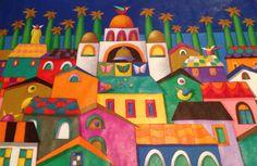 acrilico sobre lona - obra original , Coleccion Particular - Miami Florida , USA .