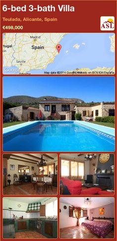 6-bed 3-bath Villa in Teulada, Alicante, Spain ►€498,000 #PropertyForSaleInSpain