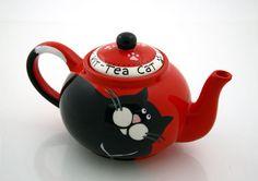 cat teapot!