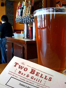Two Bells Bar and Grill, Seattle, WA. Photo courtesy of Seattle Weekly. Best Burgers in the Country.