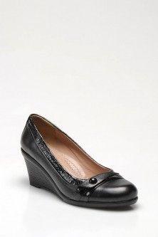 Inci Kadın Deri Ayakkabı Siyah