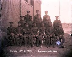 "N.C.O.'s 10th C.M.R.'s ""C"" Squadron - Indian Head | saskhistoryonline.ca"