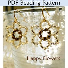 Happy Flowers PDF Beading Pattern (MADE IT)