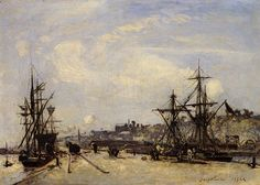 Jongkind_Johan_Berthold_Honfleur_the_Railroad_Dock. Johan Barthold Jongkind (3 June 1819 – 9 February 1891) was a Dutch painter and printmaker. He painted marine landscapes in a free manner and is regarded as a forerunner of Impressionism.