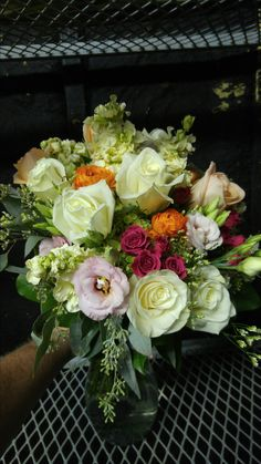Get some color to make this wedding  bouquet gorgeous. americasflorist.com