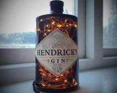 Gin bottle lamp | Etsy