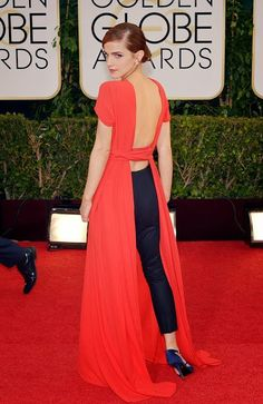 Emma Watson at the 2014 Golden Globes in Christian Dior Haute Couture