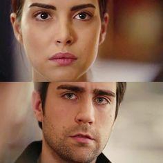 Will the heart or the head win? Deniz Baysal as Hazan and Caglar Ertugrul as Yagiz Egemen in the Turkish TV series FAZILET HANIM VE KIZLARI, 2017-2018.