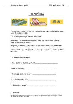 Preguntes explicites Valencia, Lectures, English Grammar, Conte, Comprehension, Language, Teaching, Activities, Education