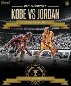 Epic Kobe Bryant vs Michael Jordan Comparison Art