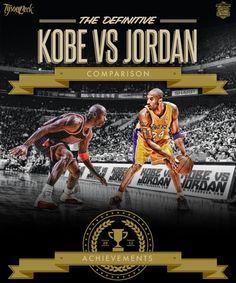 Epic Kobe Bryant vs Michael Jordan Comparison Art