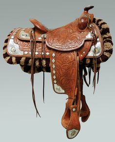 Olsen-Nolte Sterling Saddle - Brian Lebel's Old West Auction Leather Art, Custom Leather, Western Horse Tack, Western Saddles, The Lone Ranger, Horse Gear, Horse Saddles, Cowboy And Cowgirl, Old West