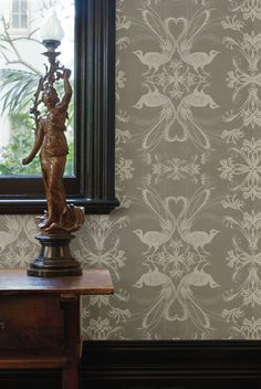 Catherine Martin wallpaper from Porters Paints..trying to figure out what room to put this in... bedroom, bathroom, front entry????