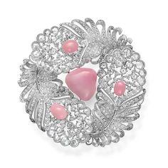 Conch Jewelry, Shell Jewelry, High Jewelry, Pearl Jewelry, Diamond Jewelry, Jewellery, Diamond Brooch, Pearl Diamond, Ideal Beauty