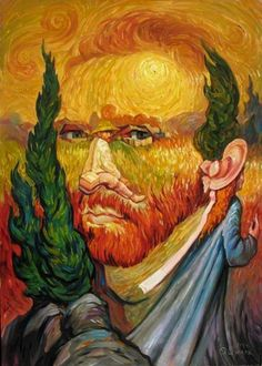 Incredible Optical Illusion Oil Paintings By Oleg Shuplyak - hommage à Van Gogh