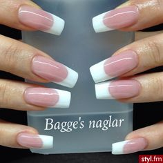 French Manicure Acrylic Nails, French Manicure Nail Designs, Natural Acrylic Nails, Polygel Nails, Pink Acrylic Nails, French Tip Nails, Hot Nails, Nail Manicure, Elegant Nails
