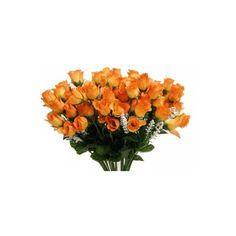 www.efavormart.com-silk flowers, artificial flowers, rose, bud, mini,... ❤ liked on Polyvore