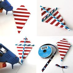 Cute Kite Garland to spin in the breeze. How to Make a Kite Garland 4th Of July Party, Fourth Of July, Fun Activities For Kids, Crafts For Kids, Kite Party, Hanging Garland, Fabric Bunting, Kites, 3rd Birthday Parties