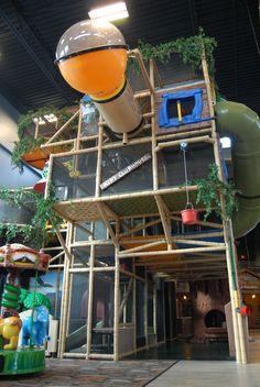 Could you imagine having this in your house for your kids to play in? Who needs a nanny!