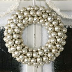 Silver Ball Wreath pinned with Bazaart