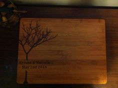 Personalized Tree Cutting Board  on Etsy, $38.00 CAD