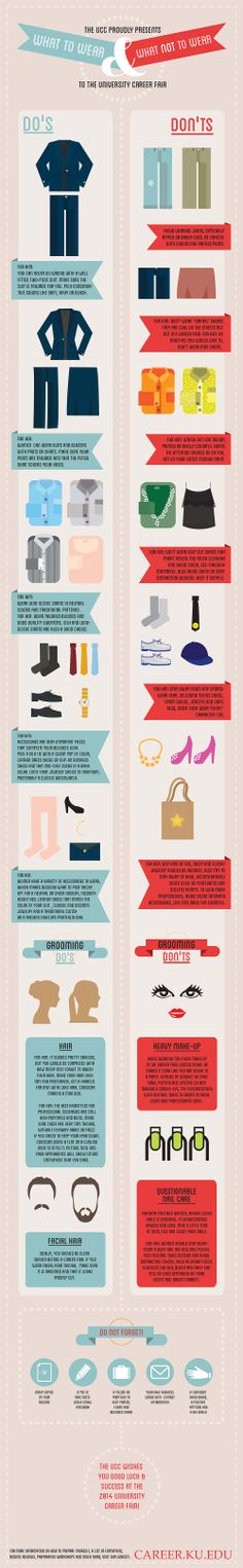 Not sure what to wear to the career fair? Follow our career fair attire 'dos and don'ts'