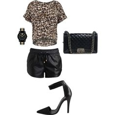 Untitled #27 by destanyxo on Polyvore featuring polyvore, fashion, style, VILA, Pieces, Chanel and Movado