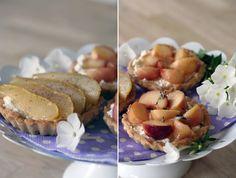 siebenVORsieben Pfirsich-Birnen-Tartelettes #ichbacksmir #sommerrezept