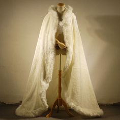 Find More Wedding Jackets / Wrap Information about Ivory Hooded Winter Wedding Coats 2016 Faux Fur Cloaks Jackets hooded bridal cape Long Warm Boleros Wedding Accessories B153,High Quality accessories motocross,China accessories orange Suppliers, Cheap accessories harley from do dower LaceBridal Store on Aliexpress.com